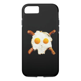 bacon and eggs skull iPhone 7 case