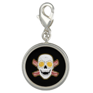 Bacon and Eggs Skull Photo Charms