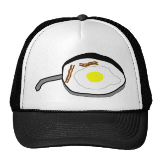 bacon and eggs trucker hat