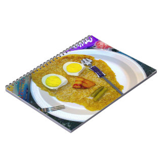 bacon and eggs waffle morning brunch notebook