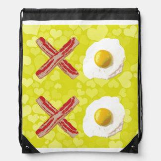 Bacon and Eggs - XOXO Drawstring Bag