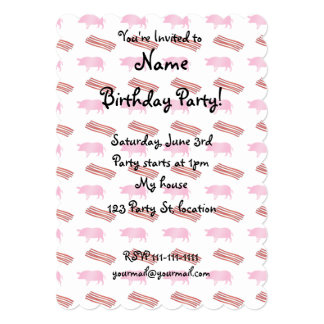 Bacon and pig pattern 5x7 paper invitation card