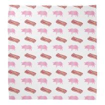 Bacon and pig pattern bandana