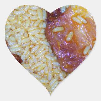 Bacon and Smoked Sausage Jambalaya Heart Sticker