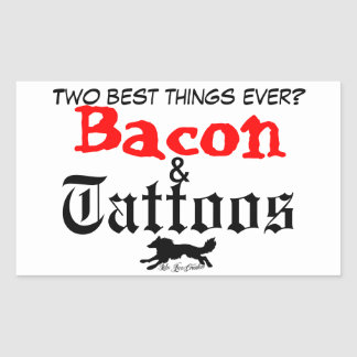 Bacon and Tatoos Rectangular Sticker