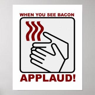 Bacon Applaud Poster
