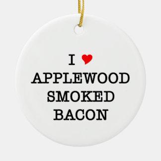 Bacon Applewood Smoked Ceramic Ornament