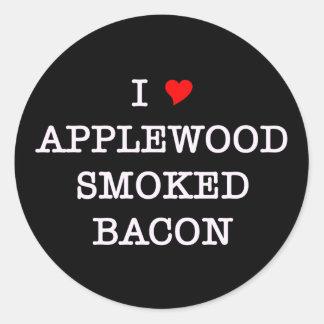Bacon Applewood Smoked Classic Round Sticker
