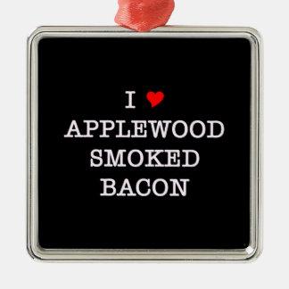Bacon Applewood Smoked Metal Ornament