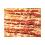 bacon as art wrapped canvas painting stretched canvas print