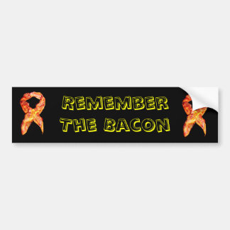 Bacon Awareness Ribbon Bumper Sticker