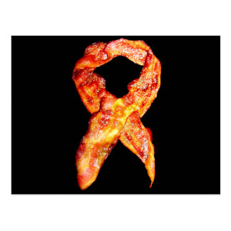 Bacon Awareness Ribbon Postcard