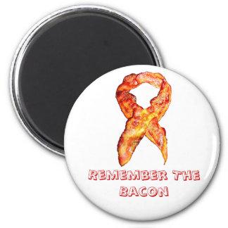 Bacon Awareness Ribbon Reminder Fridge Magnet