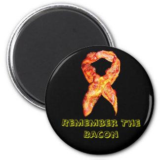 Bacon Awareness Ribbon Reminder Magnets