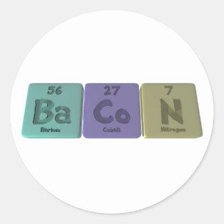 Bacon-Ba-Co-N-Barium-Cobalt-Nitrogen.png Classic Round Sticker