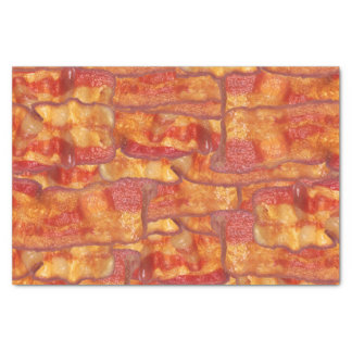 """Bacon Background Pattern, Funny Fried Food 10"""" X 15"""" Tissue Paper"""