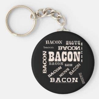 Bacon Bacon Bacon Keychain
