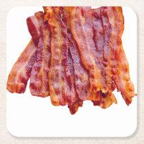 Bacon Bacon Bacon Square Paper Coaster
