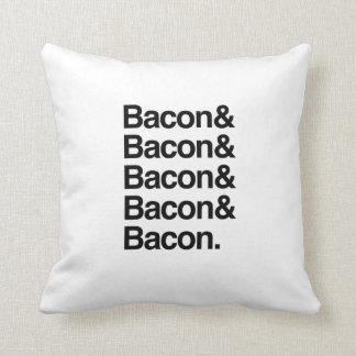 Bacon & Bacon Throw Pillow