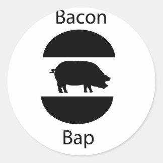 bacon bap classic round sticker