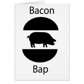 bacon bap greeting card