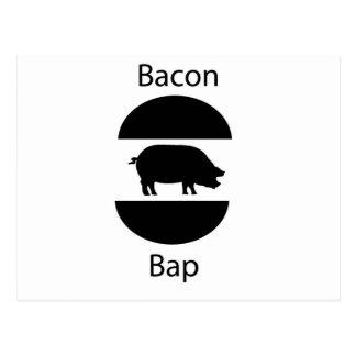 bacon bap postcard