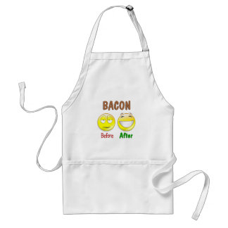 Bacon Before After Adult Apron