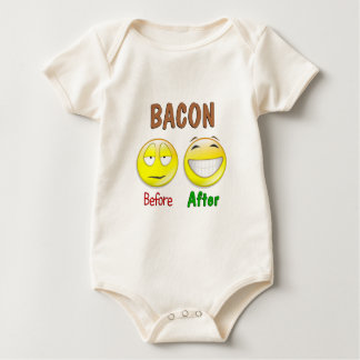 Bacon Before After Baby Bodysuits