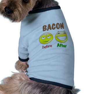 Bacon Before After Dog Clothes