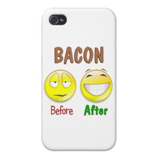 Bacon Before After iPhone 4 Case