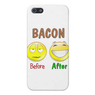Bacon Before After iPhone 5 Covers