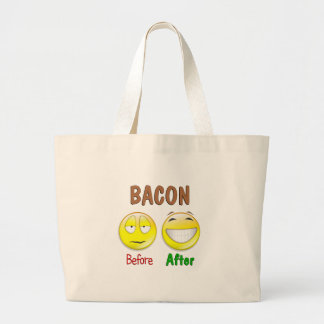 Bacon Before After Jumbo Tote Bag