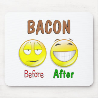 Bacon Before After Mouse Pad