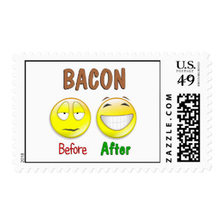 Bacon Before After Postage Stamp