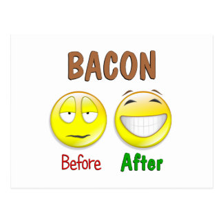 Bacon Before After Postcard