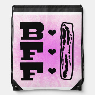 Bacon Best Friends Forever BBFF Drawstring Backpack