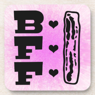 Bacon Best Friends Forever BBFF Drink Coaster