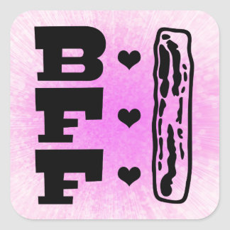 Bacon Best Friends Forever BBFF Square Sticker