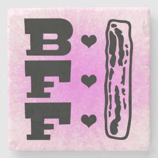 Bacon Best Friends Forever BBFF Stone Coaster