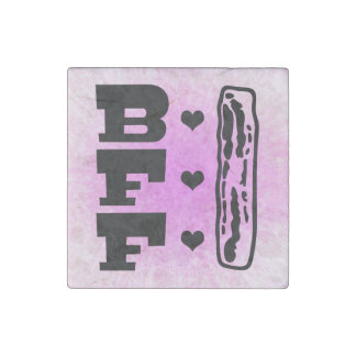Bacon Best Friends Forever BBFF Stone Magnet