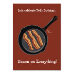 Bacon Birthday Party Invitation