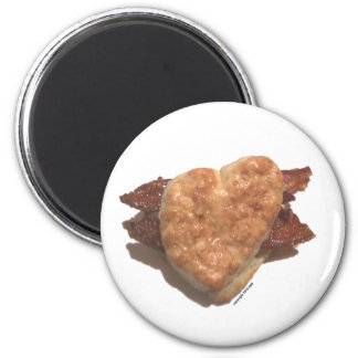 Bacon Biscuit 2 Inch Round Magnet