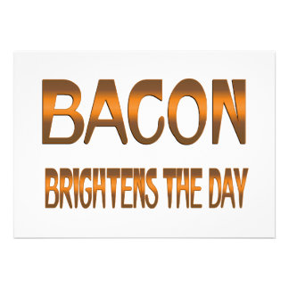 Bacon Brightens the Day Personalized Invitation