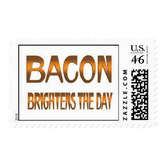 Bacon Brightens the Day Postage Stamps
