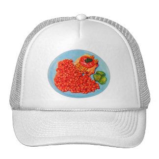 Bacon Bueger and Beans Vintage Kitsch Ad Art Mesh Hat
