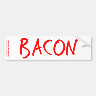 Bacon Bumper Sticker