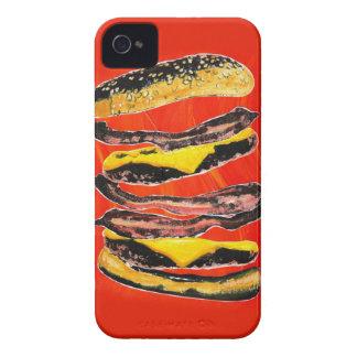 Bacon Burger Graffiti iPhone 4 Cover