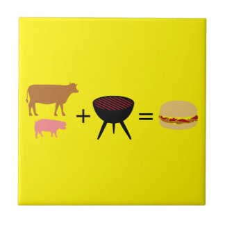 Bacon Burger Recipe Ceramic Tile
