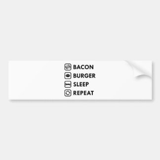Bacon Burger Sleep Repeat Bumper Sticker