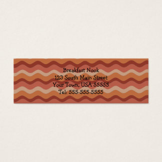 Bacon Business Cards For Breakfast Diner
